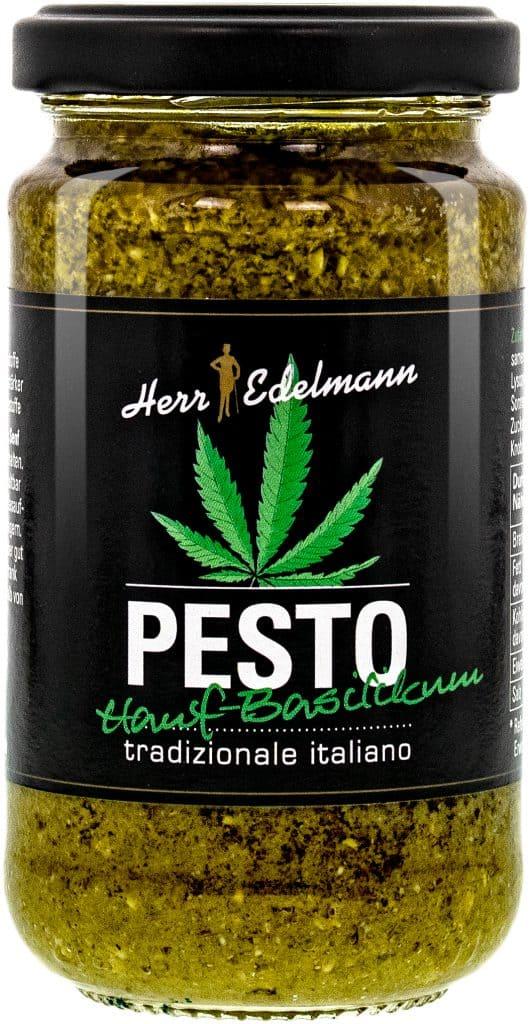 Hanf-Basilkum-Pesto