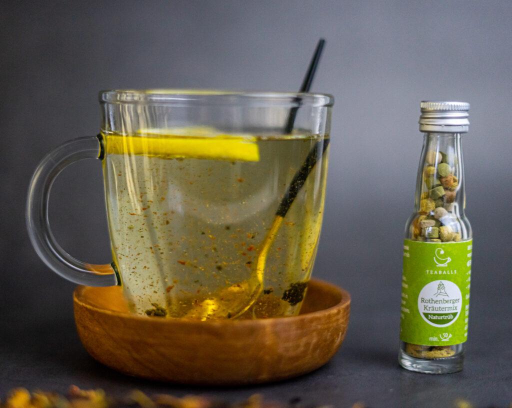 Teaballs in Flaschen